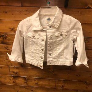 Old navy 3T white denim jacket